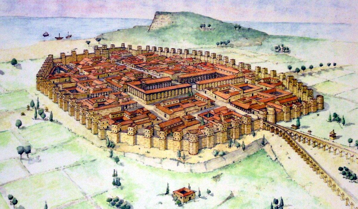 древняя крепостная стена Барселоны