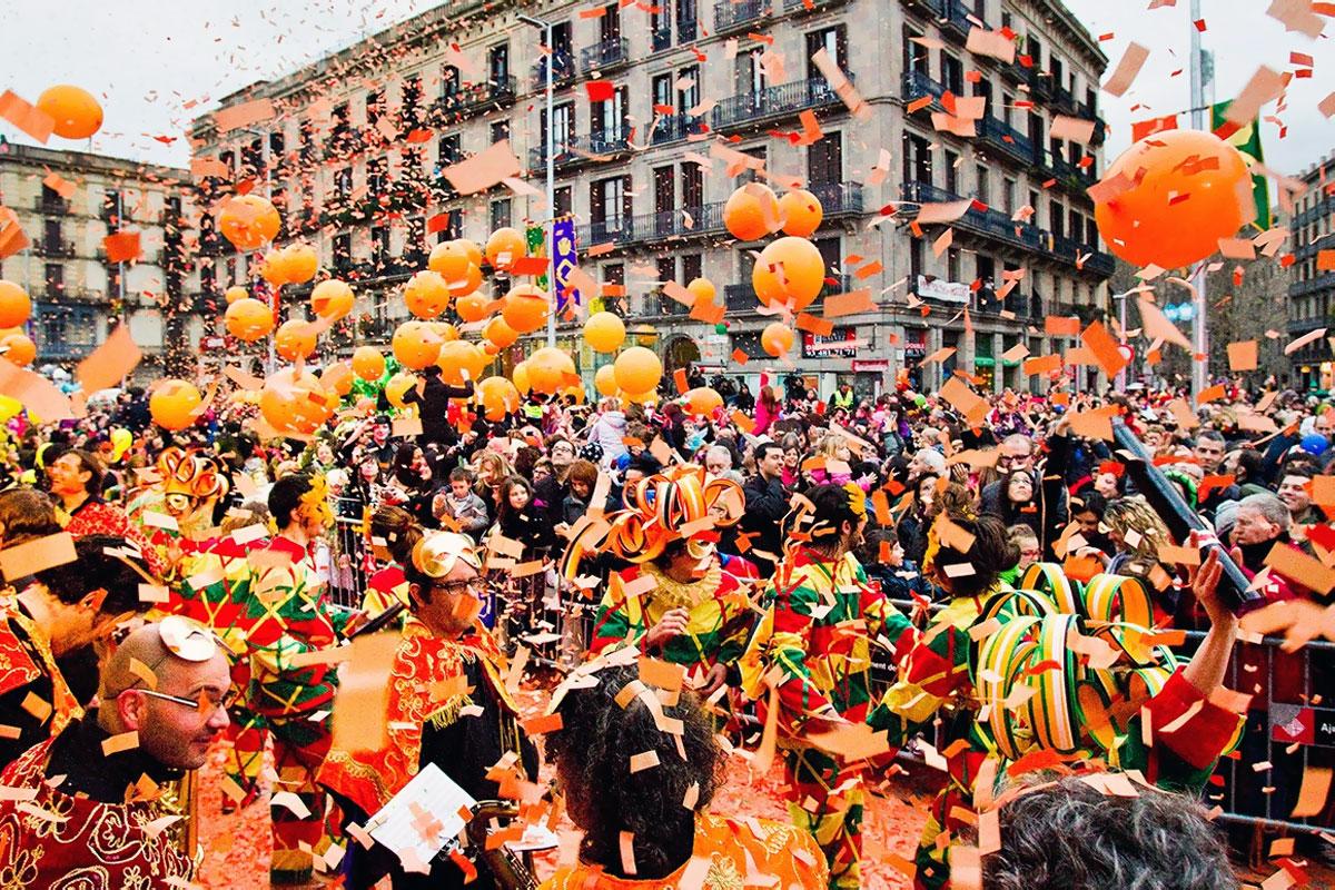 Оранжевая битва (Таронжада) в Барселоне