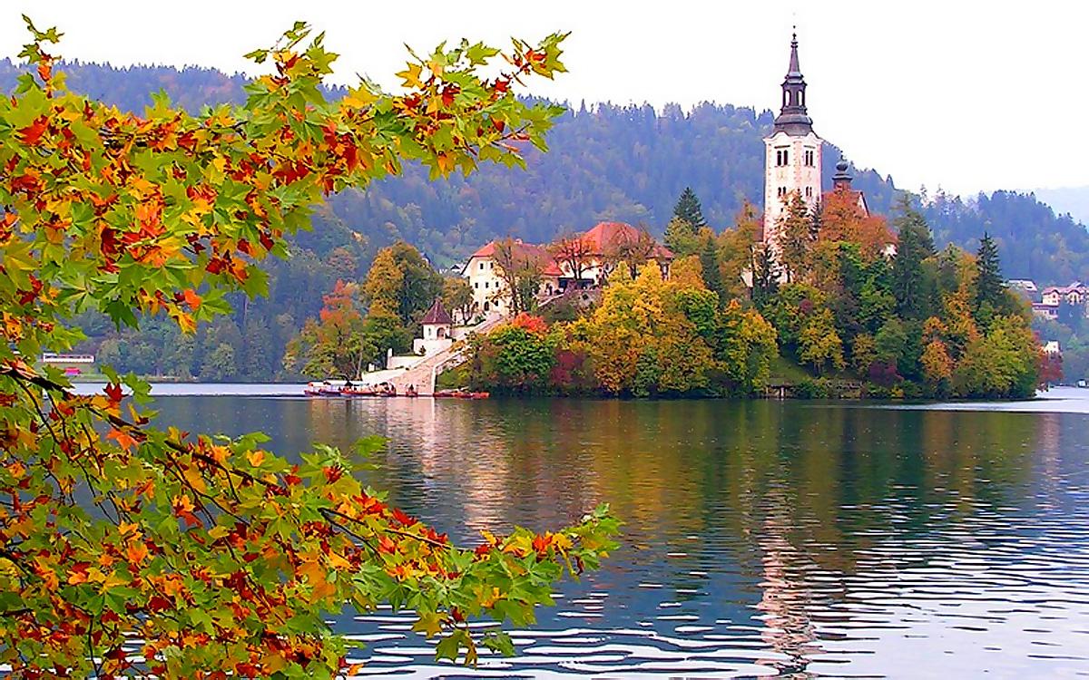 осень на озере Блед