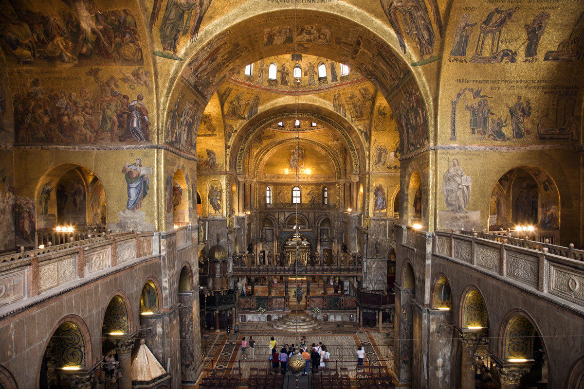 внутри собора Святого Марка (Венеция)