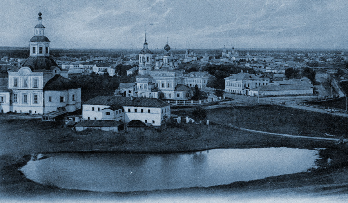 панорамный вид старинного города